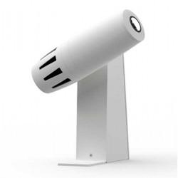 Projecteur gobo LED blanc sur patère pour installation mur, plafond, sol