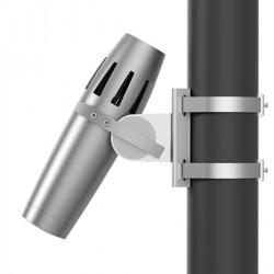 Projecteur gobo extérieur étanche gris fixation poteau