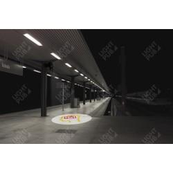 Signalétique lumineuse bagage abandonné transport en commun