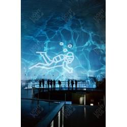 Projection lumineuse effet eau aquarium