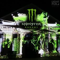 Projection publicité lumineuse mapping bâtiment, mur ou immeuble. Publicité lumineuse guerilla  et street marketing
