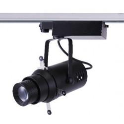 Projecteur cadreur sur rail découpe LED porte gobo pour musée et exposition